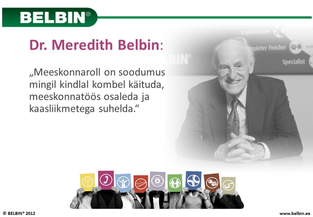 Dr. Meredith Belbin - meeskonnarollid